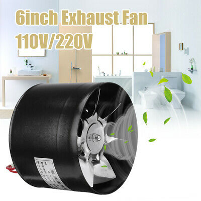 AU37.58 • Buy 6 Inch Silent Extractor Fan Duct Hydroponic Inline Exhaust Industrial Vent