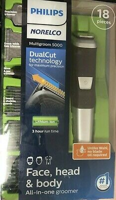 AU32.18 • Buy Philips Norelco 5000 Multigroom Hair Trimmer With 18 PIECES
