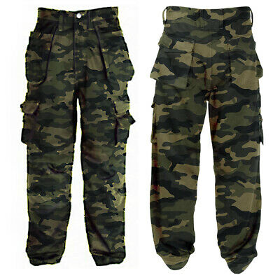 $27.89 • Buy ❤️ Mens Army Military Cargo Combat Trousers Camo Camouflage Pants Work Bottom US