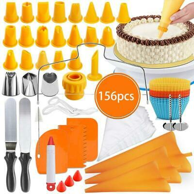 £28.22 • Buy 156Pcs Cake Decorating Kit Supplies With Cake Turntable Pastry Bags Frosting