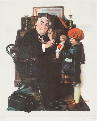 $ CDN7286.09 • Buy Norman Rockwell, Doctor And The Doll - 1972, Signed & Numbered 38/200, Collotype