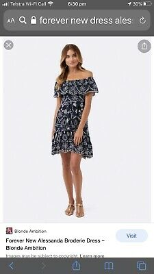 AU35 • Buy Forever NewAlessandra Broderie Dress - Size 10