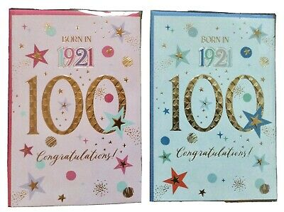 £2.50 • Buy 100 Years Old Birthday Card - YEAR You Were Born - 1921