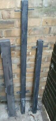 £39 • Buy 3 X WROUGHT IRON METAL SQUARE POSTS FOR GATE/RAILING/FENCING