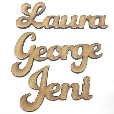 £1.50 • Buy Wooden Personalised Names Words Script Place Names Wooden Signs Plaques