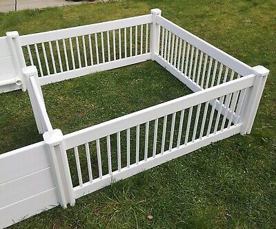 White Whelping Playpen PVC Flat Packed Dog Puppy Run Exercise Pen Fencing Box  • 199.99£