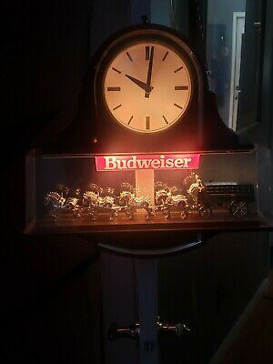 $ CDN423.22 • Buy Budweiser Clydesdale Horse  Beer Light And Clock  Vintage
