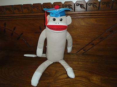 $ CDN59.11 • Buy Sock Monkey Sitting 13 Inch Burlap Soft Stuffed Graduation 2012