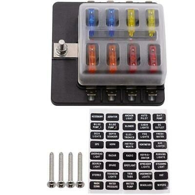 AU18.52 • Buy 8-way High Quality Waterproof And Dustproof Blade Fuse Box With LED Warning Kit