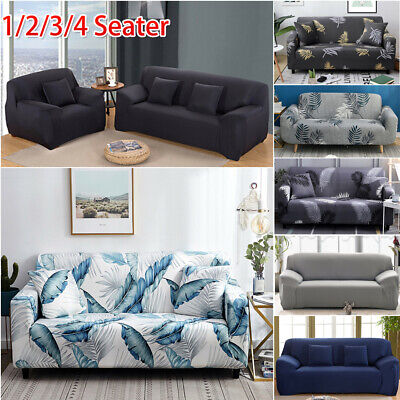 AU20.99 • Buy Sofa Covers Stretch Lounge Slipcover Protector Chair Couch 1-4 Seater L Shape