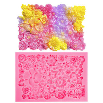 Silicone 3D Flower Lace Fondant Mould Plant Cake Decorating Baking Border Mold  • 6.99£