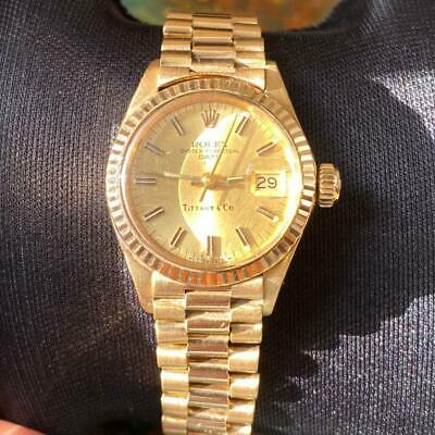 AU6181.98 • Buy Rolex Date Ladies President Tiffany 6917 18kt Yellow Gold Vintage Genuine Watch