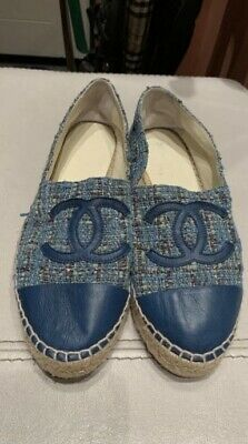 £353.99 • Buy Chanel Espadrilles Ballerina Shoes Leather Size 39