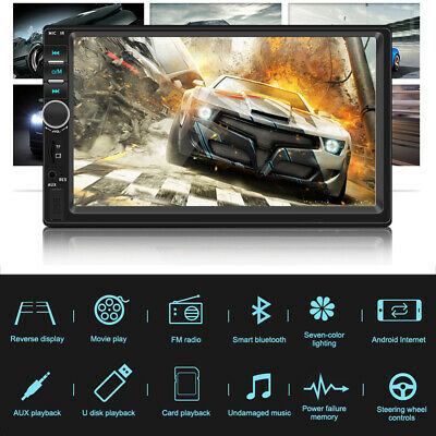 AU85.88 • Buy 7  Double 2 DIN Head Unit Car Stereo MP5 Player Touch Screen BT Radio FM/USB/AUX