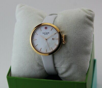 $ CDN112.34 • Buy New Authentic Kate Spade Park Row White Gold Mop Leather  Women's Ksw1270 Watch