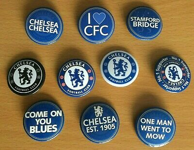 £1.99 • Buy CHELSEA FC - 3, 4 Or 6 Pin Button Badges Sets. Various Designs. Fan Gift *NEW*