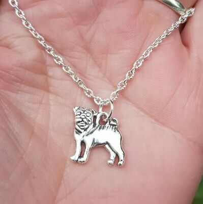 £2.98 • Buy ❤ Pug French Bulldog Necklace Jewellery Gifts Silver Dog Animal