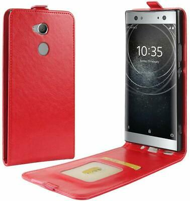 AU7.14 • Buy Vertical PU Leather Card Holder Case For Sony Xperia XA2 Ultra - Red