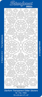 £1.95 • Buy Snowflakes Glitter Peel Off Outline Sticker Card Making Craft Hobby - 7054