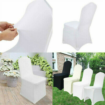 £99.96 • Buy 100 Flat Arched Front Covers Slip Spandex Chair Cover Wedding Party Decor Xmas