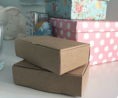 Vintage Kraft Cake Boxes, For Weddings & Special Occasions 100x60x30mm FREE POST • 6£