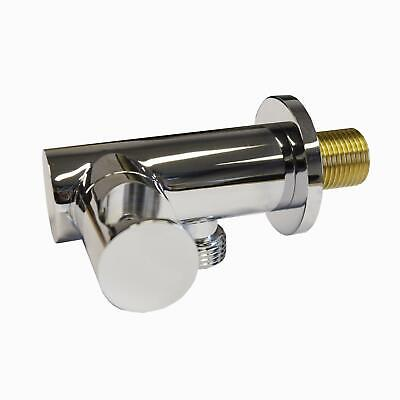 £17.99 • Buy Round Brass Wall Mounted Union Outlet Elbow Bracket Shower Handset Holder
