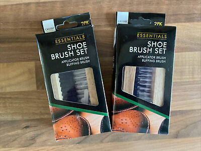 £5.49 • Buy TWO X 2PC Traditional Crosby Boot Shoe Brush Polish Buffing Buff Leather Clean