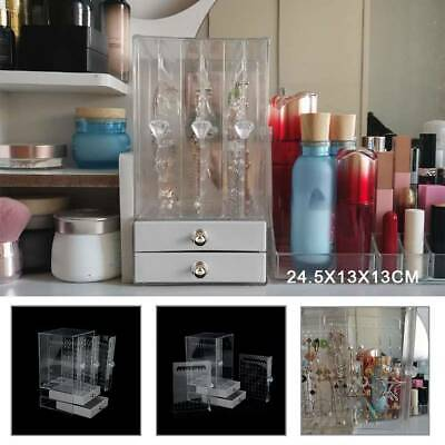 AU14.99 • Buy 3 Trays+Drawer Acrylic Earring Display Rack Stand Organizer Holder Storage Box