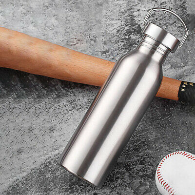 AU18.25 • Buy 500/750/1000mlSports Water Bottle Stainless Steel Gym Cycling Hiking PortableNEW