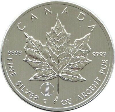 2012 Canada Tower Of Pisa Privy Maple Leaf $5 Five Dollar .9999 Silver 1oz Coin • 26£