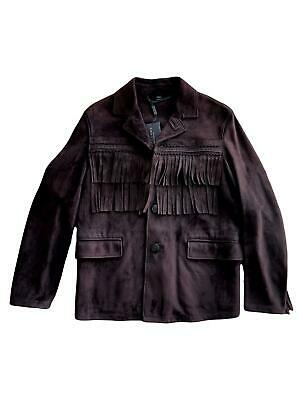 $2400 • Buy Burberry Prorsum Fall 2014 US 36 Brown Fringe Suede Jacket