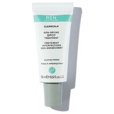 £10 • Buy Ren Clean Skincare ClearCalm Non-Drying Spot Treatment 15ml - NEW (No Box)