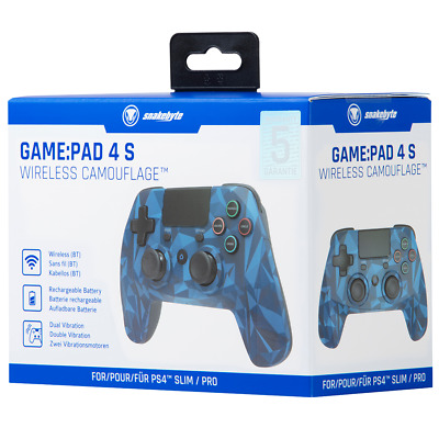 AU47.23 • Buy Brand New Snakebyte PS4 Game:Pad 4 S Wireless Controller Blue Camo OR Grey
