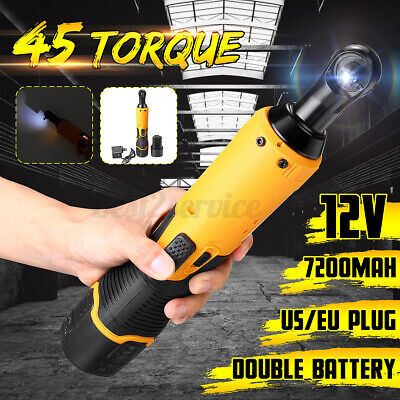 $48.99 • Buy 12V 45N.m 7200mah Wireless Rechargeable Electric Ratchet Wrench Tool Charger