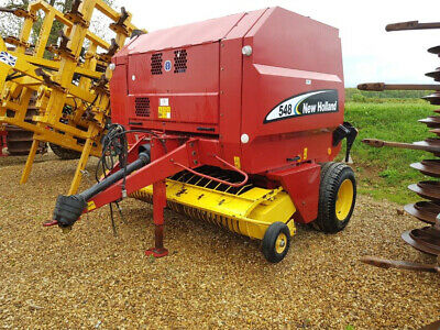 £6450 • Buy NEW HOLLAND 548 Round Baler, 2003, Rotafeed, 2 Metre Pick-Up, 22595 Bale Count