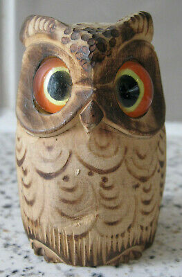 £25 • Buy Novelty Wooden Owl Tape Measure - Vintage Sewing Accessory