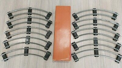 £26.95 • Buy Box Of O Gauge - HORNBY TRACK  10 X Curved Rails - 1 Ft Radius (Not Banked)