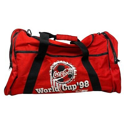 £24.99 • Buy Vintage Promotional Coca Cola World Cup '98 Holdall Duffle Bag Promo 1998 90s