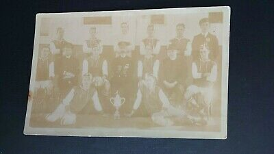 £4 • Buy Unknown Football Team With Trophy - Possibly Military Real Photo Postcard