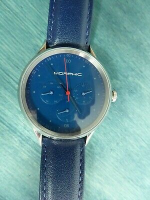 $65 • Buy Morphic M65 Series Blue Dial 42 Mm Case W Blue Leather Strap MPH6506 RP $420