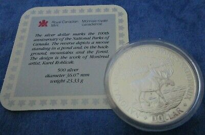 £15.95 • Buy 1985 Royal Canadian Mint National Parks Silver Dollar
