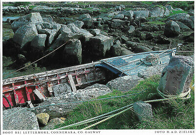 AU1.55 • Buy Ireland - Connemara  -  Lettermore - Old Fishing Boat On The Island (Co. Galway)