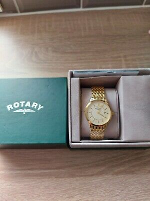 £50 • Buy Rotary Mens Gold Plated Wristwatch Brand New Working Gb00248/03.