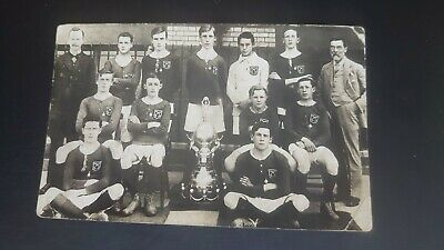 £3 • Buy Unknown Youth Football Team Trophy Real Photo Postcard
