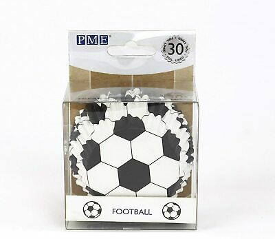 £3.69 • Buy Pme Bc829 Football Cupcake Cases, Foil Lined - 30 Pack 50mm Base