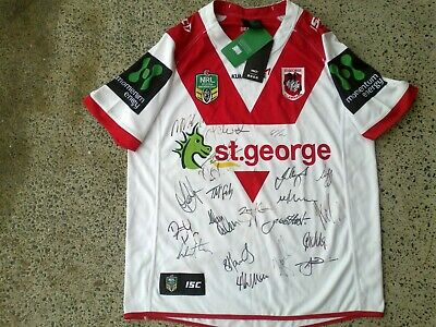 AU184.99 • Buy SIGNED 2016 St George Illawarra Dragons NRL Rugby League Jersey NEW