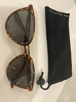 AU21 • Buy Quay Womens Cat Eye Sunglasses Brown With Case