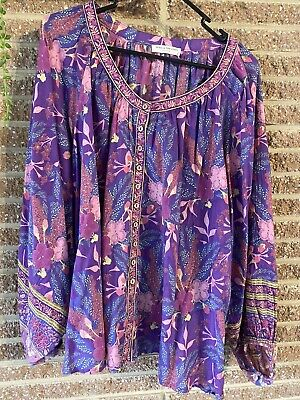 AU160 • Buy Spell And The Gypsy Bianca Wisteria Blouse XL