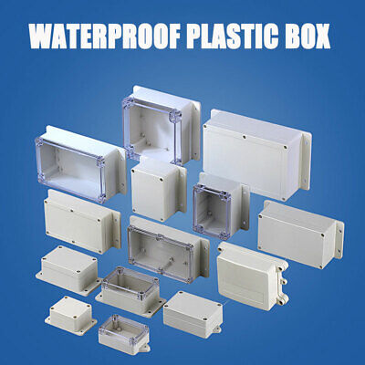 £5.49 • Buy Waterproof Plastic Electronics Project Box  Enclosure Hobby Case Cover Screw New