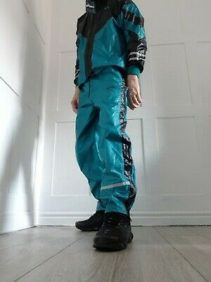 £16 • Buy Mens Lads Rare Asics Tracksuit Wetlook Shiny Cal Surf Bottoms Jacket Suit Pant